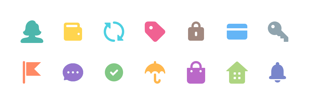 Icons for each section of Help Center.